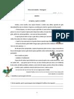 Ficha português o galo, a raposa e o solidó