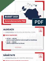 Proiect de Buget 2021 - Amendamentele PSD