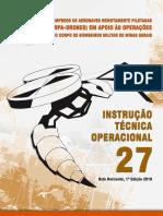 ITO 27 - Emprego de RPA (Drones) Em Apoio Às Operações Do CBMMG