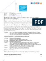 2011 Global Open Water Swimming Conference - Agenda