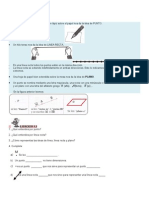 Grado 6. Guia 2 Geometria Punto, Linea, Recta y Plano