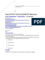 Your EVENT MANAGEMENT Directory
