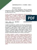 Resolvidos DIREITO ADMINISTRATIVO I CASOS CONCRETOS 2021.1