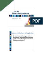 Cours #6_ Mesure de température