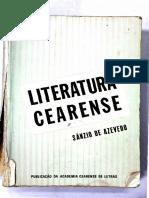 AZEVEDO, Sânzio de. Literatura Cearense - Sanzio Azevedo