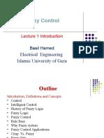 Dokumen.tips Fuzzy Control Lecture 1 Introduction Basil Hamed Electrical Engineering Islamic University of Gaza