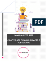 Índice manual ufcd 9829. Criatividade Em Comunicação e Publicidade