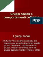 Gruppi Sociali e Comportamenti Collettivi