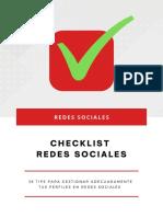 Checklist Redes Sociales