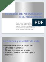 PROCESO DE NTEGRACIÓN DEL MISIONERO