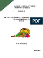 Projet D-Entreprise de Transformation de Produits Agricoles_ETPA_Haiti