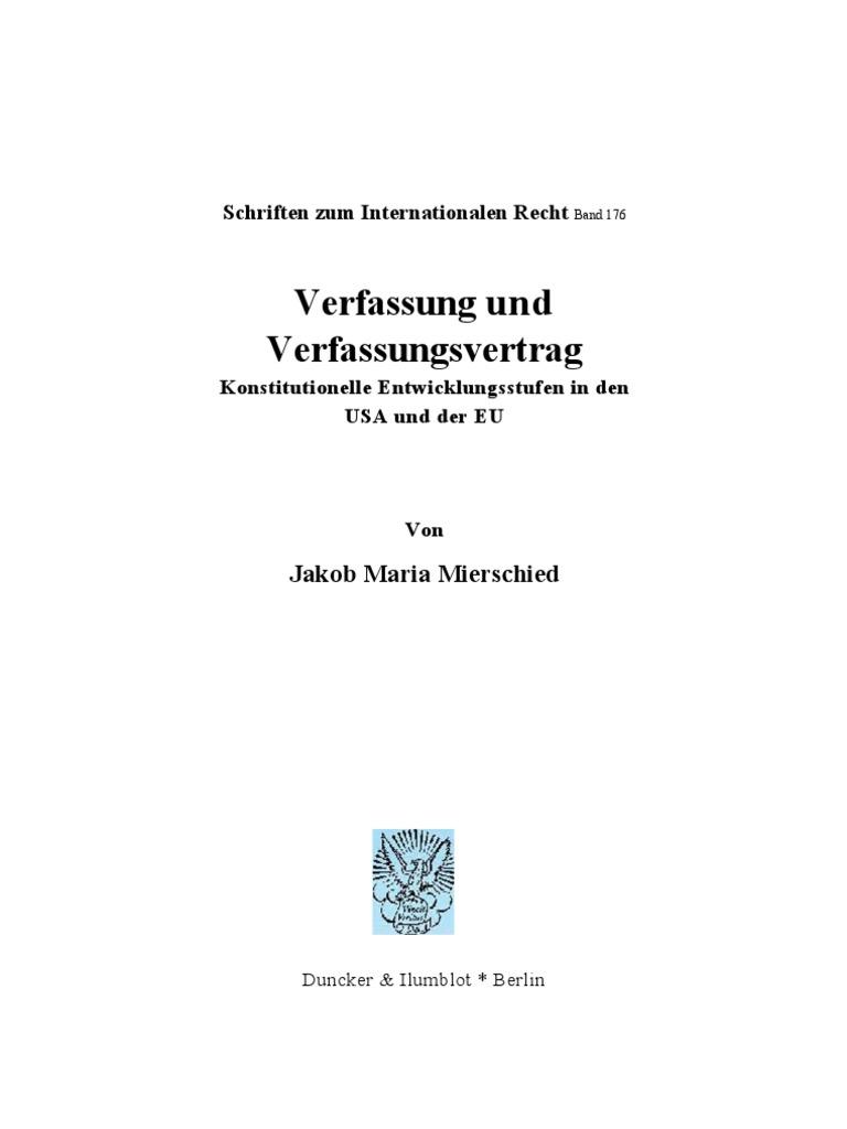 Jakob Mierscheid - Verfassung und Verfassungsvertrag ...