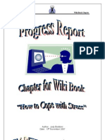Progress Report Wiki Chapter