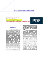 Facts - Flexible a.c. Transmission Systems