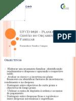 UFCD 9820 – Planeamento e Gestão do Orçamento.