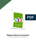 Règlement Intérieur (au 27 Février 2011)