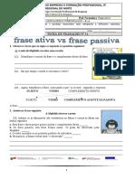 FICHA DE TRABALHO Nº12_frase ativa_frase passiva