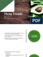 menu trends