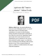 El equívoco del _nuevo paganismo_. Julius Evola _ Biblioteca Evoliana