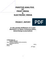 1695. COMPARITIVE ANALYSIS OF PRINT MEDIA & ELECTRONIC MEDIA