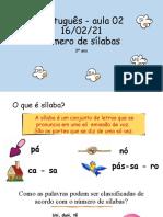 16-02-2021 - Aula de Português - 3º Ano