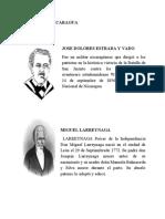 PROCERES DE NICARAGUA