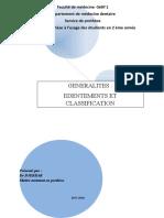 1-édentements et classification