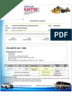 Cotización N. 0255-20  Alquiler de Equipos-TRAVIPUR