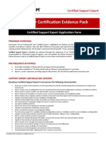 Certified Support Expert - Application Form