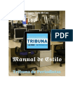 Manual de Estilo Tribuna de Periodistas
