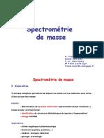 Spectre de masse  CM_Denat_2010_Masse
