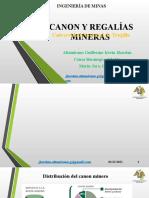 Canon y Regalías Mineras