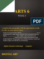 Arts 6 week 6