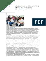 Del Pathos de la formación inicial de docentes