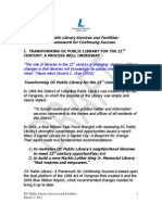 Draft Library Services and Facilities Report