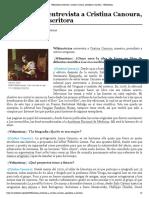 Entrevista a Cristina Canoura, periodista y escritora