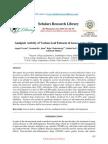 Analgesic Activity Saraca Indica