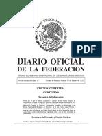 Diario oficial de la federación Mexicana del 19022021-VES