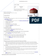 Chocolate-Raspberry Layer Cake