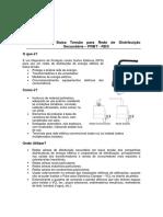 Para Raios de Baixa Tensão Para Rede de Distribuição Secundária PRBT RDS