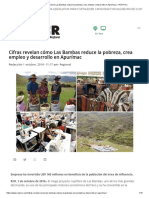 Cifras Revelan Cómo Las Bambas Reduce La Pobreza, Crea Empleo y Desarrollo en Apurímac – RCR Peru