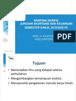 SEMESTER GANJIL 2019 P1-JURUSAN-MATERI BRIEFING SKRIPSI JURUSAN AKUNTANSI