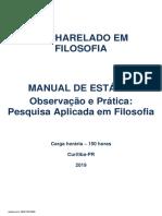 MANUAL DE ESTÁGIO Observação e Prática Pesquisa aplicada em Filosofia_2019