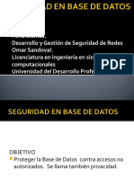 SEGURIDAD EN BASE DE DATOS