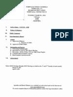 Agenda for 3/1/2011