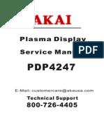 AKAI PDP4247-F Service manual