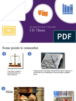 JD Thesis Ppt2 Points to remember (1)