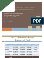 Austin ISD FY2012 Preliminary Budget Presentation