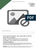 Comment formater une carte SD_Micro SD endommagée     InfoNovice.fr