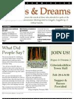 Hopes & Dreams Report #1